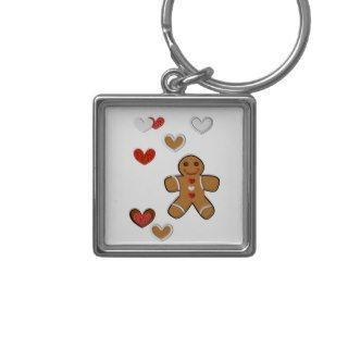 Gingerbread Man and Edible Hearts Key Chains