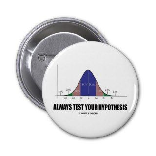 Always Test Your Hypothesis (Statistical Attitude) Pins