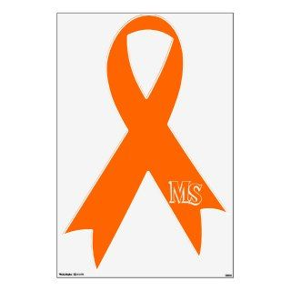 Multiple Sclerosis Awareness Ribbon Wall Decals
