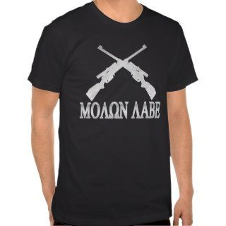 Molon Labe Crossed Rifles 2nd Amendment Tshirts