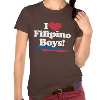 Love Filipino Boys   White T Shirts