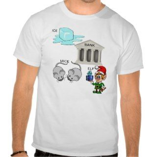 Ice Bank Mice Elf (I Spank Myself) Cartoon T Shirt