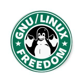Gnu Linux Freedom Sticker