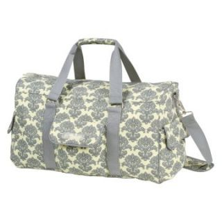 Bumble Collection Jennifer Weekender Diaper Bag in Yellow Filagree