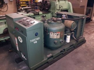 Joy Twistair 75HP 125 PSI Rotary Air Compressor TA 075EA141HA 28 509 Hours