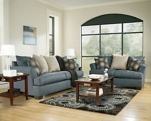 ashley furniture mindy indigo living room set sofa loveseat 39500 35 rh popscreen com Navy Blue Living Room Design Blue Living Room Charleston Style