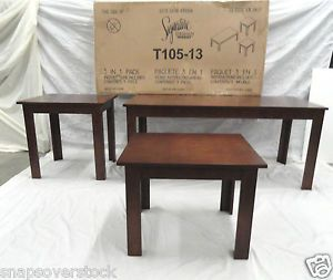 Ashley Furniture Signature Series Yoshi 3 Piece Coffee Table End Table Set New