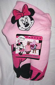 Disney Minnie Mouse Hooded Towel Bath Towel Minnie Design Great Gift Pink New