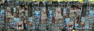 Woodland Wildlife Deer Trees Bear Deck Pier Patch Frame Cabin Curtain Valance