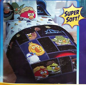 Angry Birds Star Wars 5pc Twin Comforter Sheets Pillow Bedding Set Darth Vadar