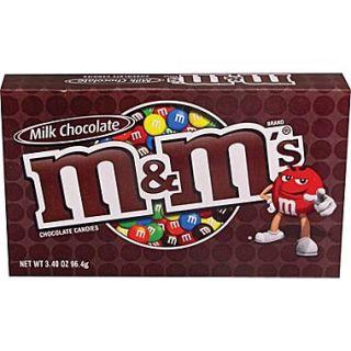 M&Ms® Milk Chocolate Candies Concession Box, 3.4 oz. Bags 12 Packs/Box