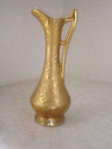 Bel Terr China Bud Vase Pitcher 22 KT Gold Never Used