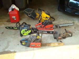 4 Used Chainsaws 1 Partner K12S Rescue Saw for Parts Only on