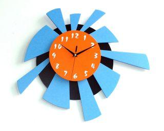 Two Tone Sunrise Wall Clock Modern Contemporary Unique Wall Clocks at Cozy™