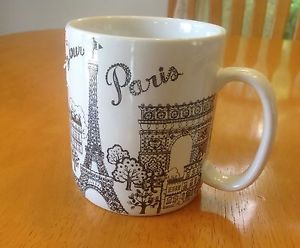 222 Fifth Extra Large Coffee Mug Bonjour Paris NWT