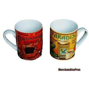 Pier 1 Imports 'Columbian' 'Paradiso' Coffee Mugs Coffee Cup New