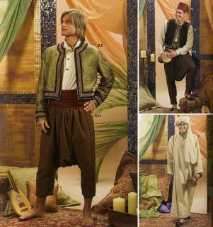 Exotic Arabian Costume Tunic Shirt Jacket Pants Hat Turban Sewing Pattern