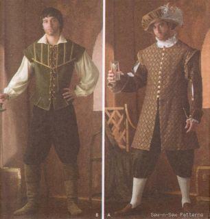 Men's Medieval Renaissance Costume Sewing Pattern Hat