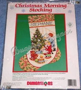 Dimensions Christmas Morning Stocking Counted Cross Stitch Kit
