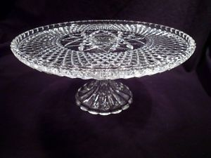 Clear Glass Pedestal Cake Plate