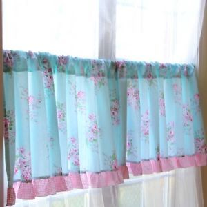 Shabby Country Chic Floral Cottage Victorian Rose Ruffles Curtain Valance