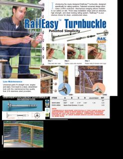 Stainless Cable Railing Deck Rail Raileasy Turnbuckle Tensioner