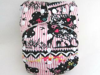 New Kawaii Baby Cloth Diaper Mom Label One Size OS Bamboo Minky 2 Bamboo Liners