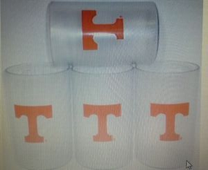 UT Vols Plastic Drinkware 16 oz Set of Four Tumblers