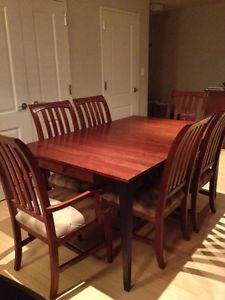 Ethan Allen Dining Room Set Solid Cherry Wood