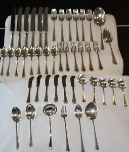 Towle 45 Piece Sterling Silver Flatware Set in Lady Constance