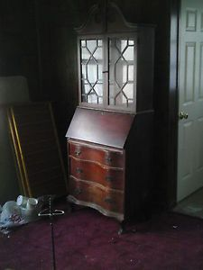 Tall Antique Secretary Desk by Ebert Furniture Co with Orginal Bill of Sale NJ