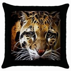 New Set of 2 New Black Sexy Leopard Print Bed Cushion Throw Pillow Case Covers