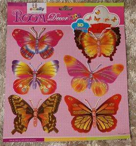 Nursery Baby Childrens Girls Kid Child Bedroom Furniture Butterfly Wall Stickers