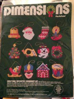 Dimensions Christmas Favorites Ornament Set Plastic Canvas Kit