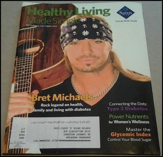 2012 Bret Michaels Poison Sam's Club Magazine Healthy Living Made Simple Sep Oct