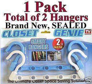 2 Smart Hangers Space Saver Closet Genie Organizer