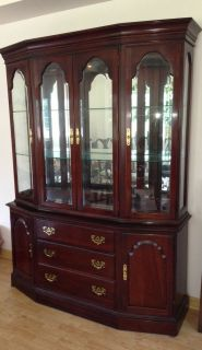 Ethan Allen Georgian Court Solid Cherry China Cabinet 11 6358 11 6346