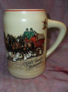 "1980's Ceramarte Budweiser Famous Clydesdales Stein ""Excellent Condition"""