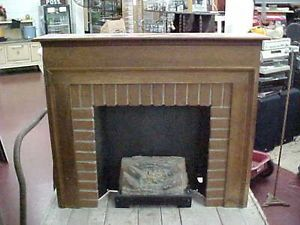 Vintage Electric Fireplace and Mantel