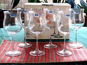 Set 6 Crystalite Bohemia Crystal Gourmet Wine Glasses