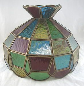 Vintage Stained Glass Table Desk Lamp Shade Chandelier Multi Colors