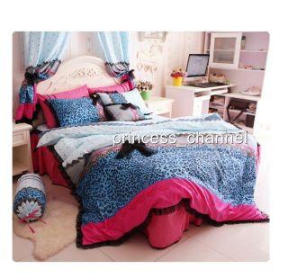 Princess Fashion Sexy Leopard Print Sheet Duvet Cover Pillowcase Bedding Sets