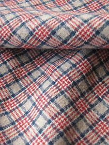 Antique French Comforter Duvet Cover Kelsch Linen Plaid Red Blue Homespun Lovely
