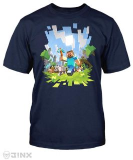 Official Licensed Minecraft Adventure with Steve Youth T Shirt Sizes SM XL New