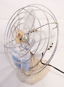 Vintage Coast to Coast Air Desk Wall Fan Metal Blade Electric Fan Model 08499