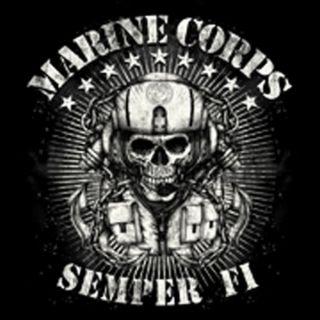New USA USMC Marine Corps Semper Fi Skull T Shirt LS SS s 3XL Support The Troops