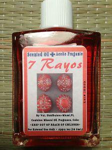 Aceite de 7 Rayos 7 Rayos Oil 1 oz Santeria Wicca Pagan Palo IFA