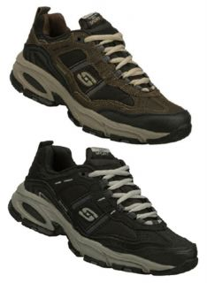 Skechers Men's Leather Athletic Shoes in Medium and Extra Wide Widths