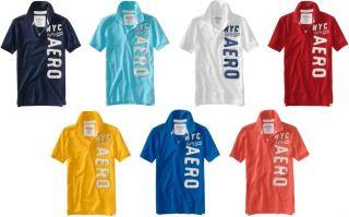 Aeropostale Mens Aero Logo Polo T Shirt XS s M L XL 2X