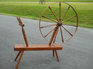 Antique Early Great Spinning Wheel Central Virginia